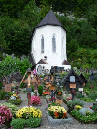 Catholic Graveyard in Hallstatt