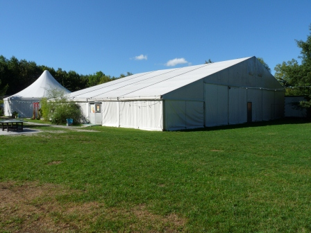 Exterior of the Tent