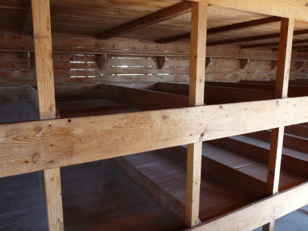 Bunks in regular barrack of Dachau