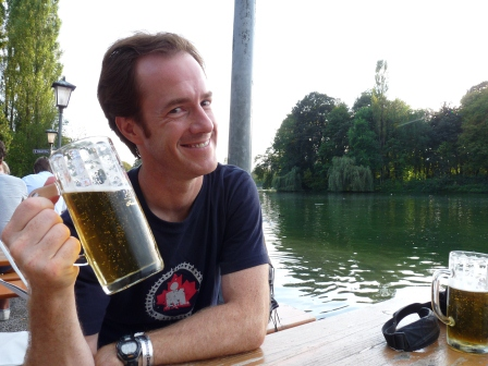 Patrick enjoying a beer in the Englisher Garten