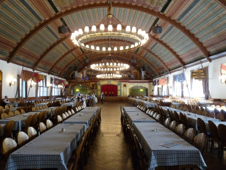 Upper floor of the Hofbräuhaus where Hitler spoke