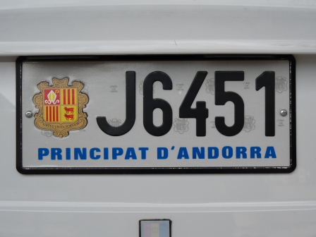 Andorran License Plate