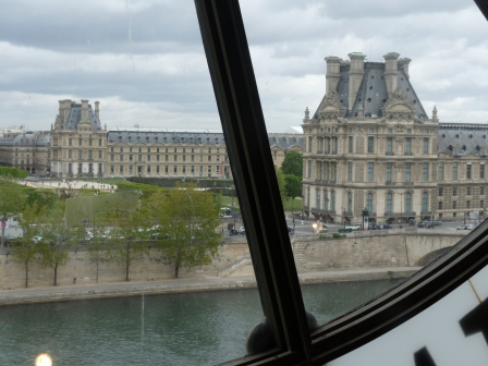 The Louvre from the clock window of the Musee D'Orsay across the river