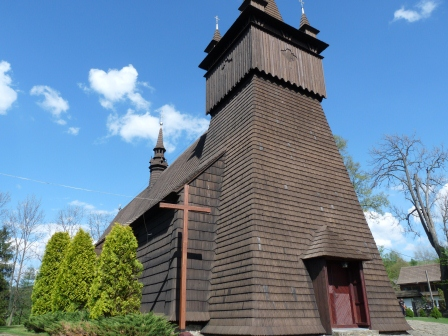 Church with tower all made of wood