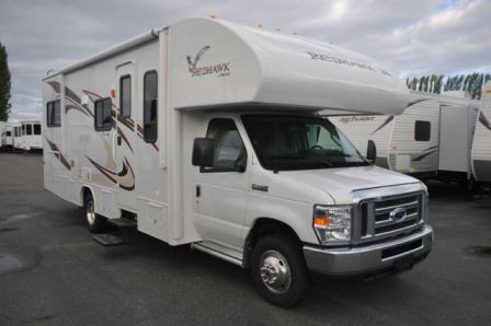 Jayco Redhawk showing front and left side