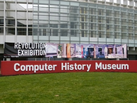 Front of Computer History Museum building with signage